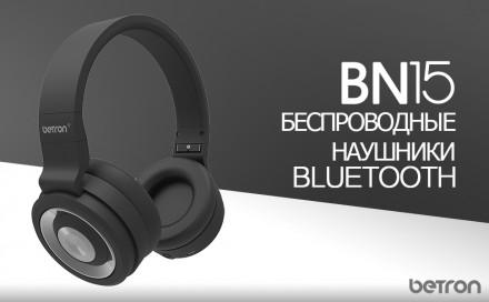 Betron BN15 Bluetooth-наушники,беспроводной, диапазон 10 м, встроенный микрофон.. Бровары. фото 1