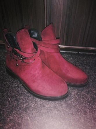 Тренд сезона ботинки цвет Марсала размер 38 полномерка. Продаю не подошёл разме. Запорожье, Запорожская область. фото 4