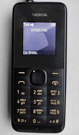 Nokia 105 б/ушный кнопочный телефон черного цвета в хорошем рабочем состоянии. З. Херсон, Херсонская область. фото 6