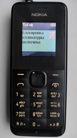 Nokia 105 б/ушный кнопочный телефон черного цвета в хорошем рабочем состоянии. З. Херсон, Херсонская область. фото 9