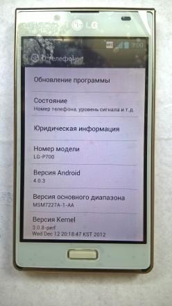 LG P700 б/ушный сенсорный телефон белого цвета в отличном косметическом и рабоче. Херсон, Херсонская область. фото 7
