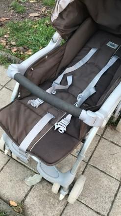 Прогулочная коляска фирмы CAM Portofino, немаркого тёмно-коричневого цвета.  В. Черновцы, Черновицкая область. фото 8