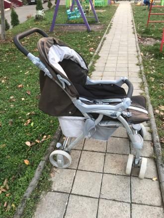 Прогулочная коляска фирмы CAM Portofino, немаркого тёмно-коричневого цвета.  В. Черновцы, Черновицкая область. фото 4