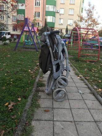 Прогулочная коляска фирмы CAM Portofino, немаркого тёмно-коричневого цвета.  В. Черновцы, Черновицкая область. фото 9