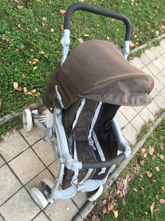 Прогулочная коляска фирмы CAM Portofino, немаркого тёмно-коричневого цвета.  В. Черновцы, Черновицкая область. фото 3