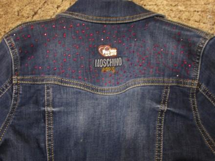Джинсовый пиджак на девочку . Замеры : плечо 10 см , рукав - 57 см , длина - 48,. Кривий Ріг, Дніпропетровська область. фото 3