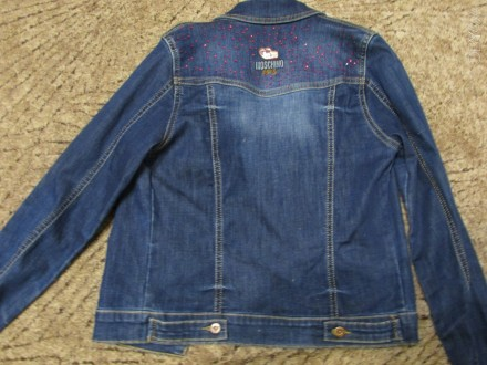 Джинсовый пиджак на девочку . Замеры : плечо 10 см , рукав - 57 см , длина - 48,. Кривий Ріг, Дніпропетровська область. фото 4