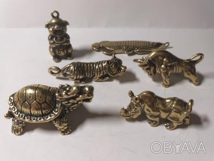 Бык тигр арована  Фен Шуй фигурки бронза