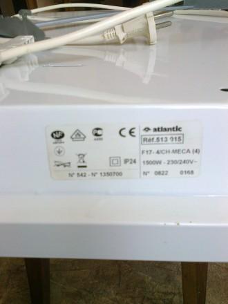 Конвектор электрический настенный Atlantic F17 1500 с регулировкой температуры н. Мариуполь, Донецкая область. фото 6