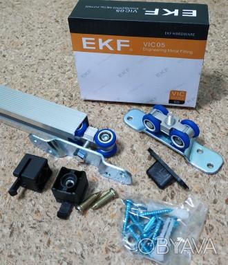 Раздвижная система для дверей EKF E-120100-02 применяется для монтажа не тяжелых. Чернигов, Черниговская область. фото 1