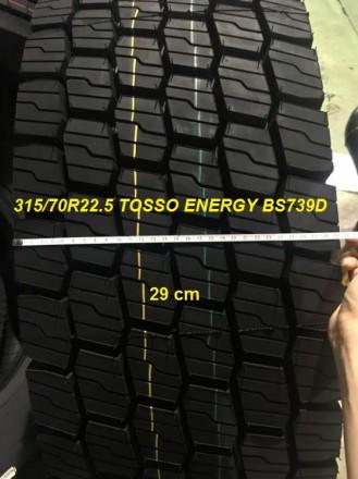 Новые грузовые шины 315/70R22.5 ENERGY BS 739 D приводная ось, аналог Aeolus ADW. Чернигов, Черниговская область. фото 3