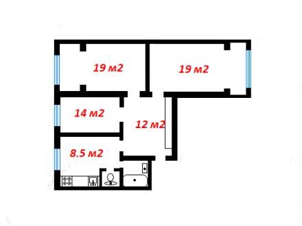 Сдается в аренду 3-х комнатная двухсторонняя квартира в отличном состоянии на 6 . Позняки, Киев, Киевская область. фото 3