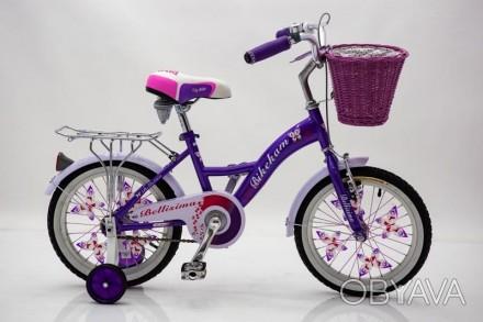 Белисима 16   велосипед двухколесный с корзинкой для девочки Bellisima