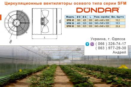 Заказать или купить в Одессе циркуляционные вентиляторы DUNDAR осевого типа сери. Одесса, Одесская область. фото 3