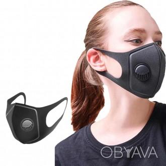 Многоразовые защитные маски с фильтром-клапаном (не медицинские), новые, каждая . Одеса, Одесская область. фото 1